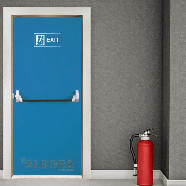 درب ضد حریق کد Y 037آبی
